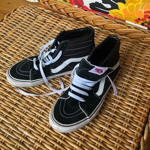 Ward Vans hightop skate shoes Black white 6 EUC